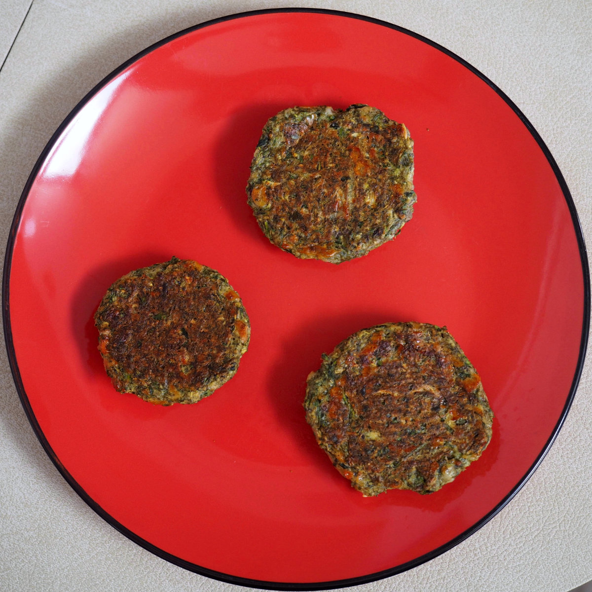 Bakes courgette balls